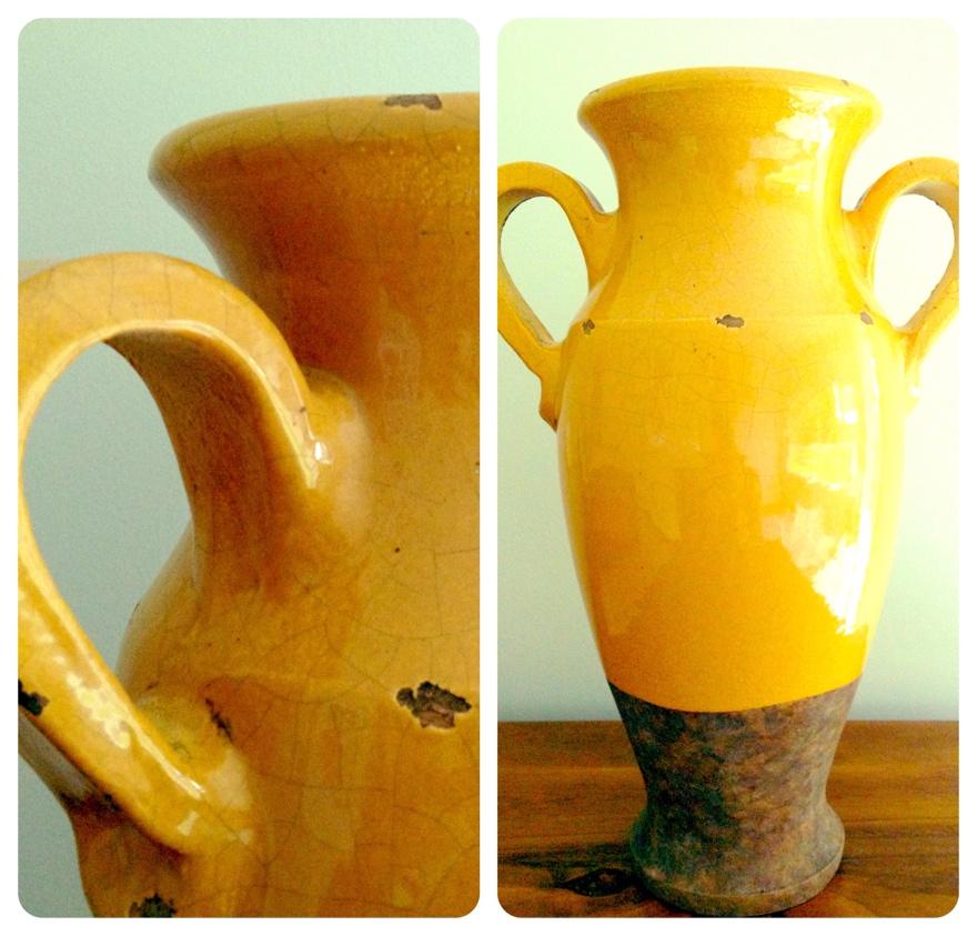 Freedom Mustard Yellow Vase