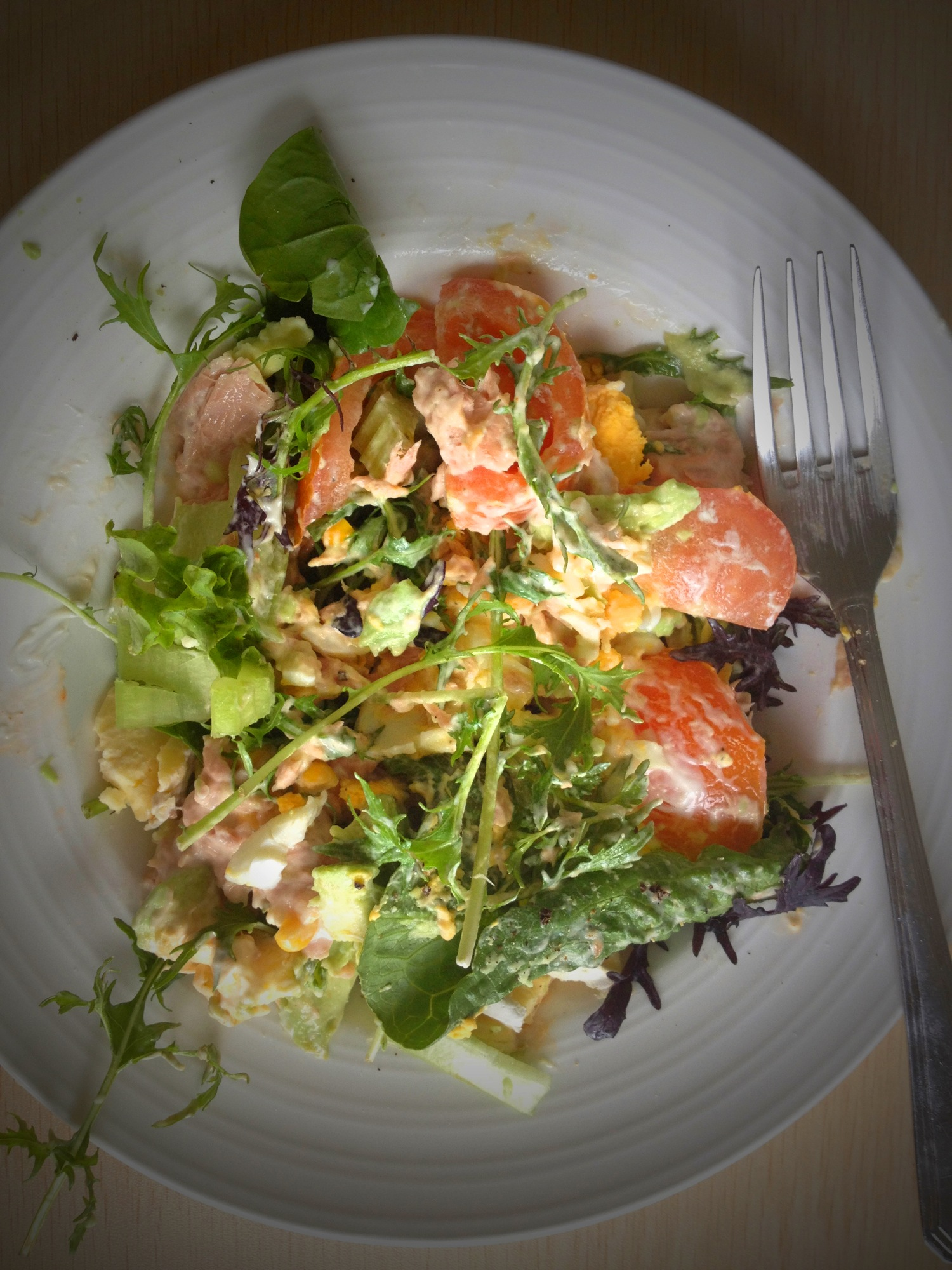 Salad for lunch…..again!