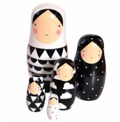 Monochrome Nesting Dolls New Zealand Mum blogger