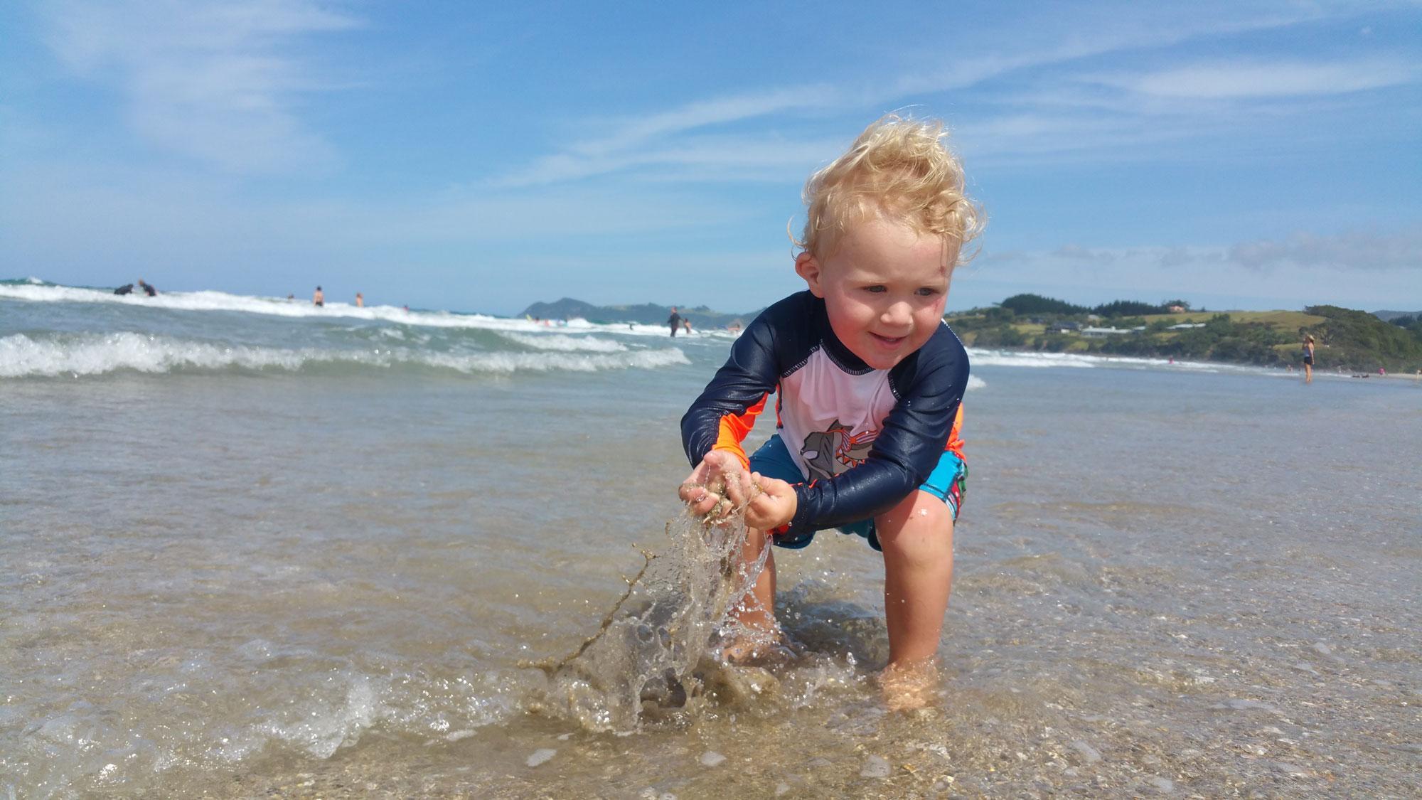Top Mummy Blog new Zealand Toddler Beach