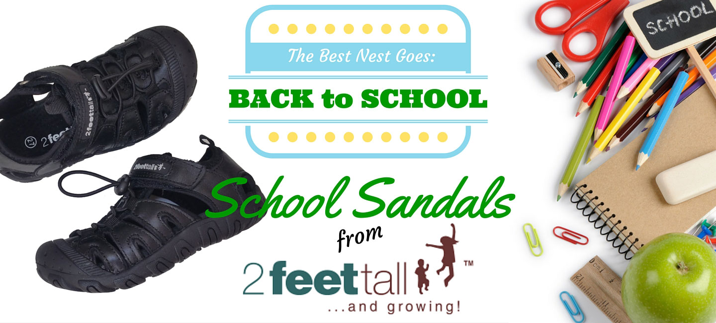 Back to School | Leather School Sandals from 2 Feet Tall