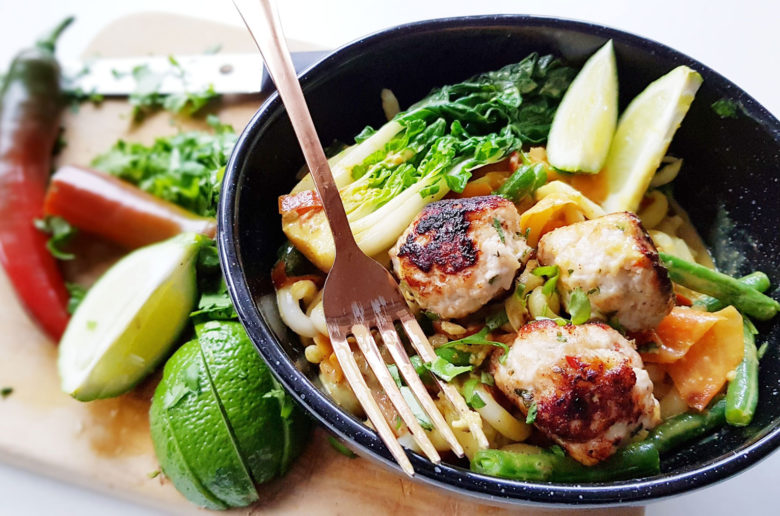 New Zealand's Top Mummy Blogger Parenting Travel Blog Family Travelblog Thai Chicken Meatballs in Coconut Curry Recipe
