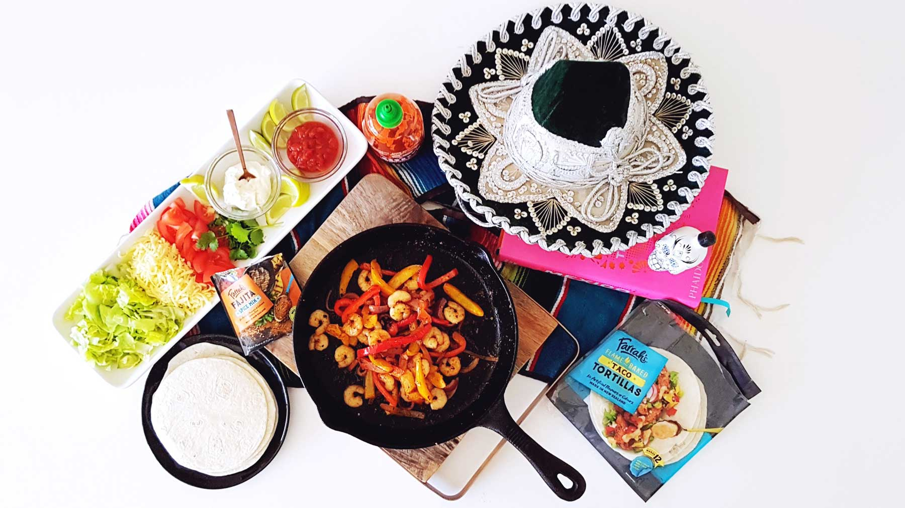 Midwinter Mexican – Sizzling Shrimp Fajitas Recipe
