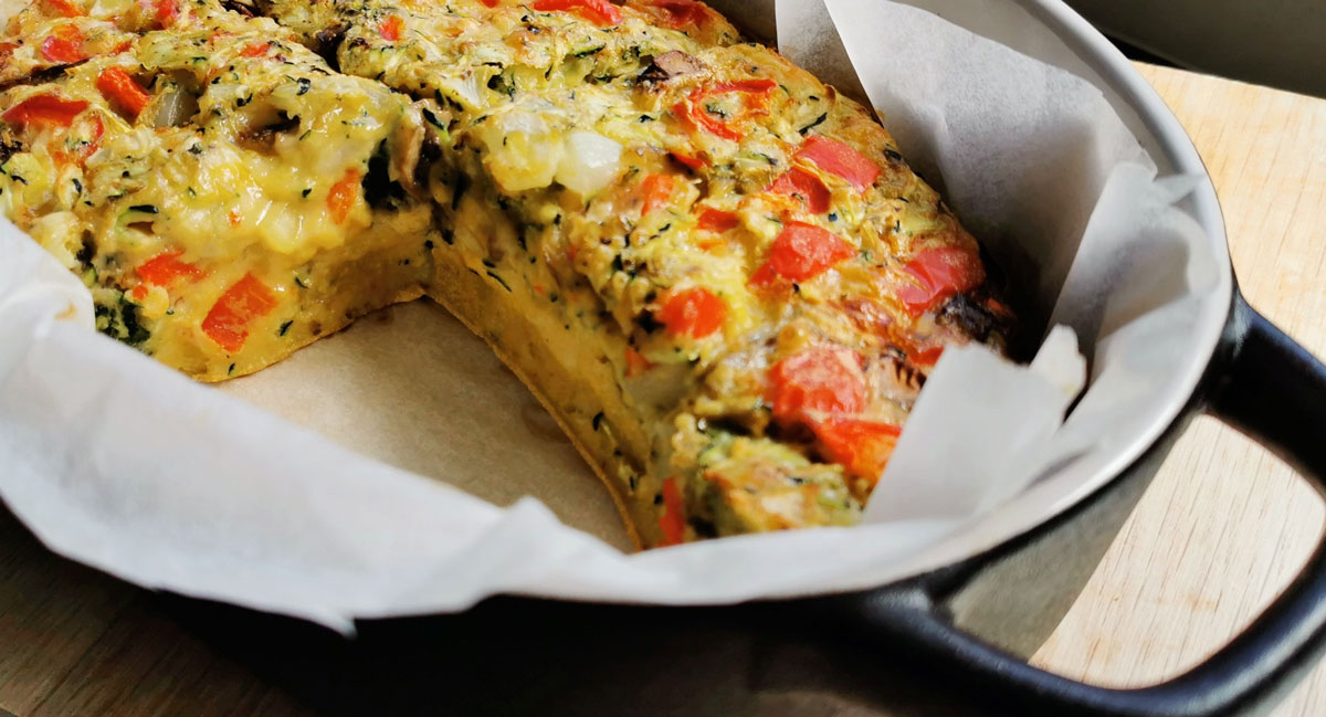 Vegetable Frittata Bake Recipe NZ