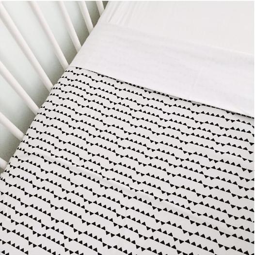 Monochrome Cot Blanket New Zealand Mum Blogger