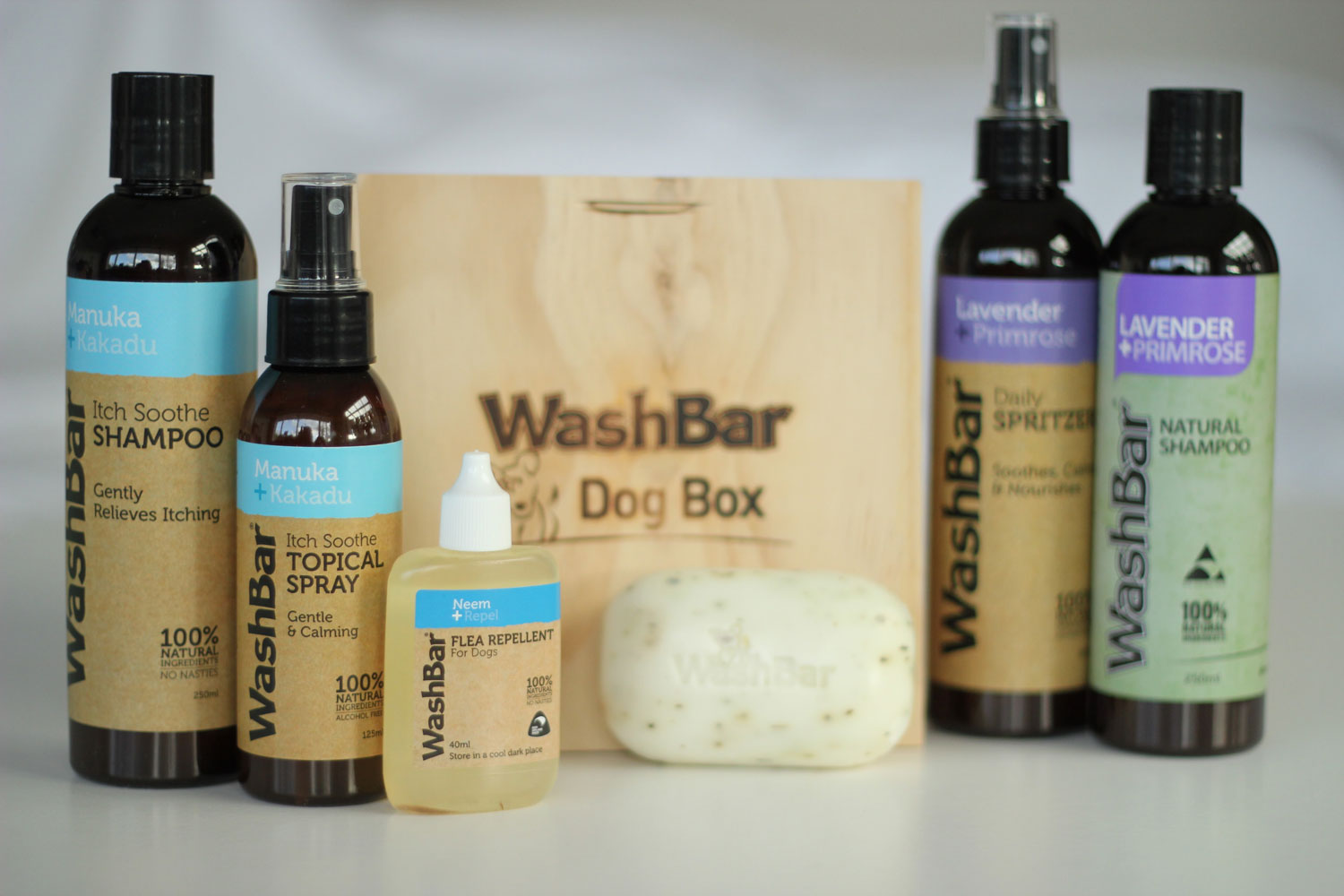 We love | Washbar Natural Skin and Coat Care…….for Dogs!