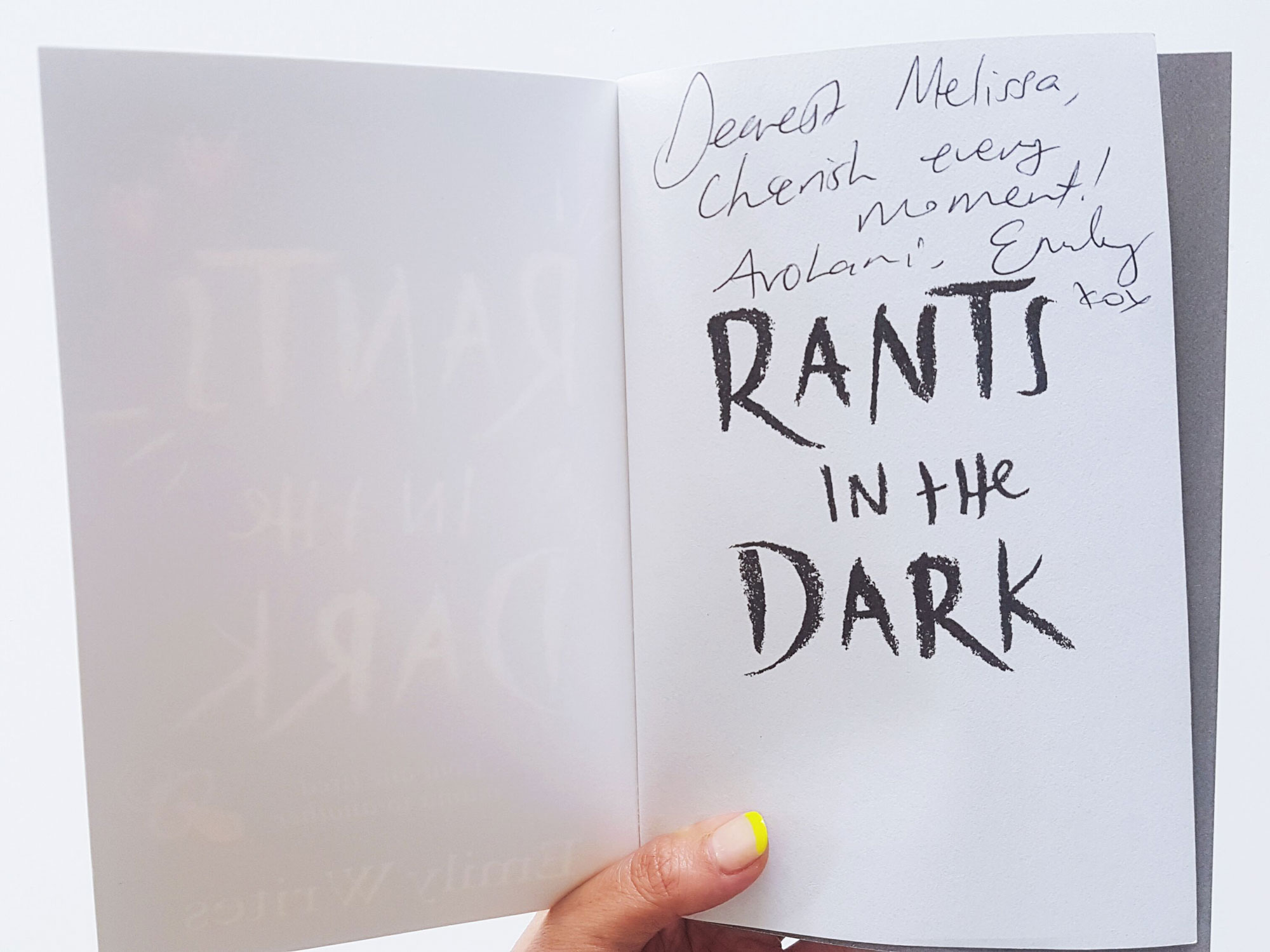 Book Review – Rants in the Dark by Emily Writes